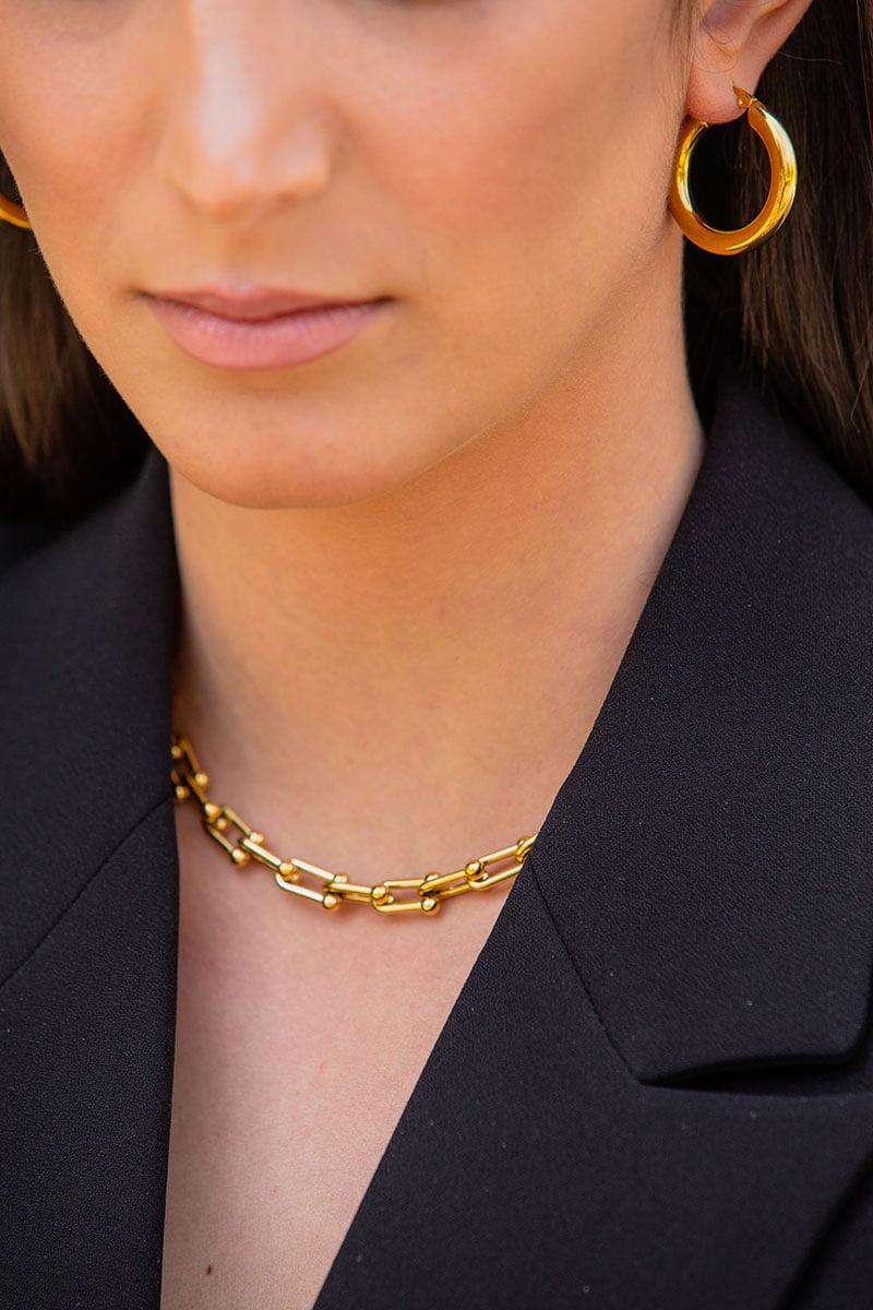 Σκουλαρίκια Scarlett κρίκοι